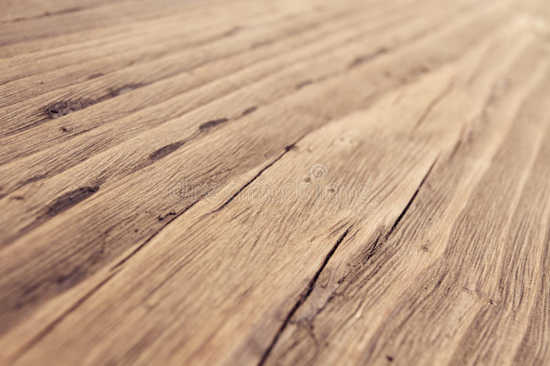 Wood Texture, Wooden Grain Background, Desk in Perspective Close Up, Striped Timber royalty free stock photography