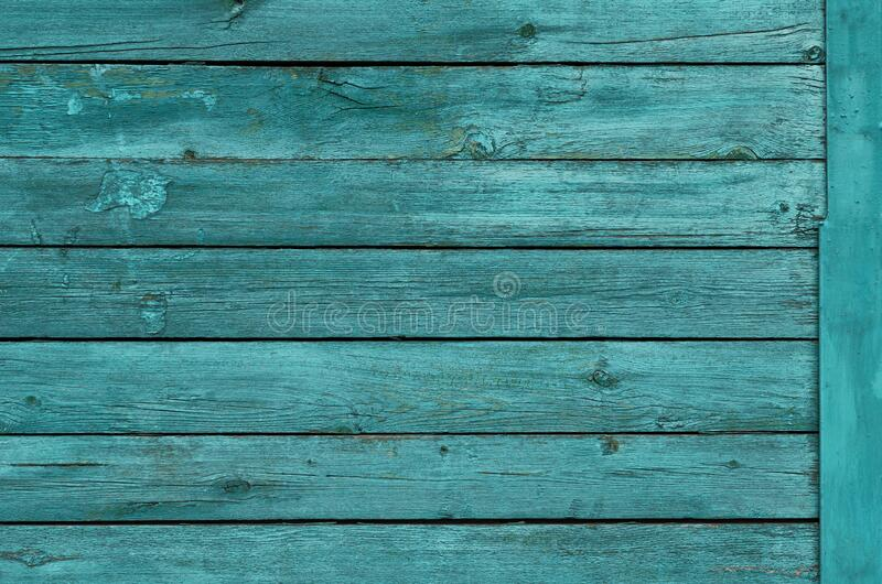Wooden background with boards in turquoise color.  stock image