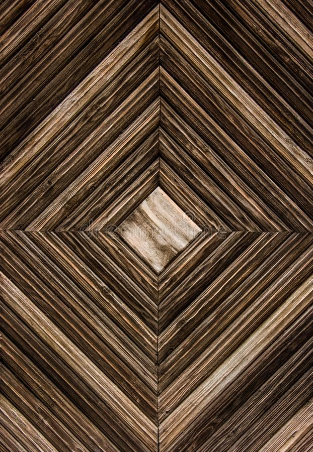 Wooden background. Geometric wooden background. Wooden slats in the form of square. stock images