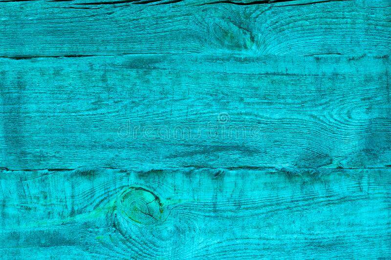 Wooden background made of old turquoise aqua boards stock photos