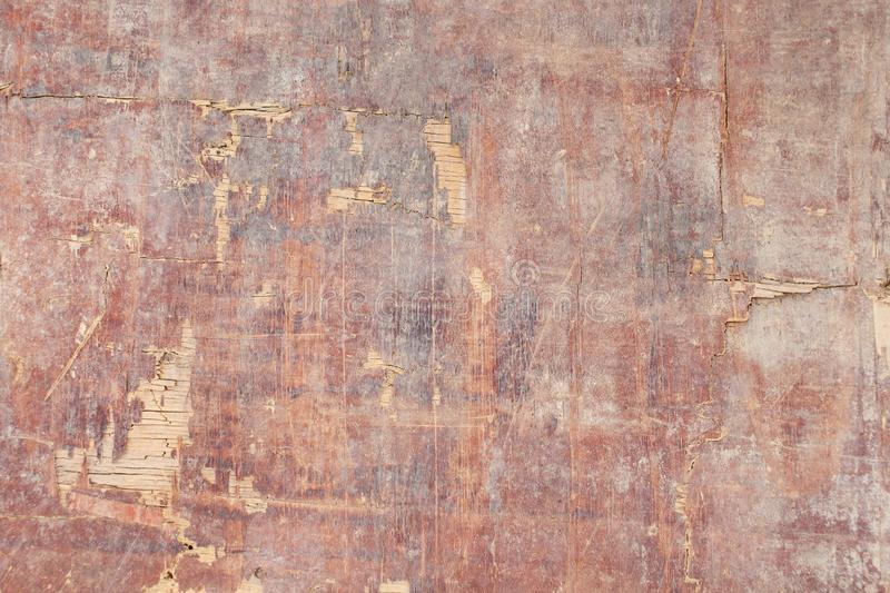 Texture of old cracked painted plywood royalty free stock photography