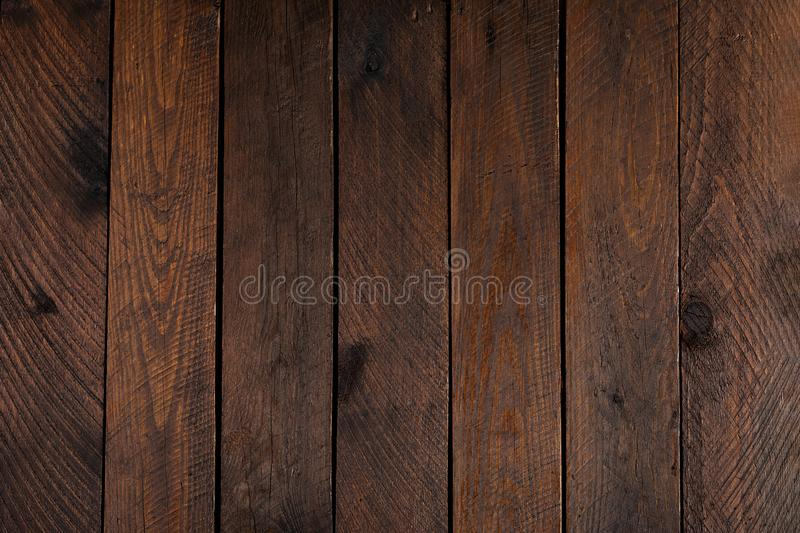 Wooden background. Rustic wood boards and background. Retro image style. Top view stock image