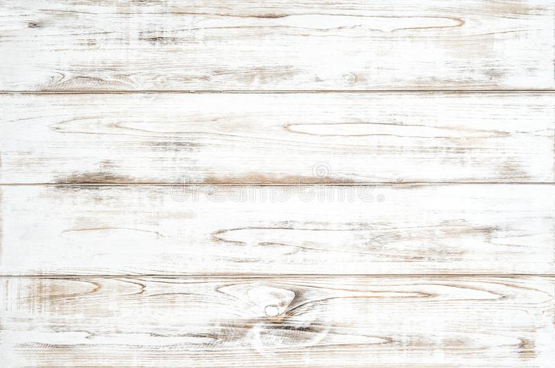 Wooden background white colored plank Natural wood pattern stock image