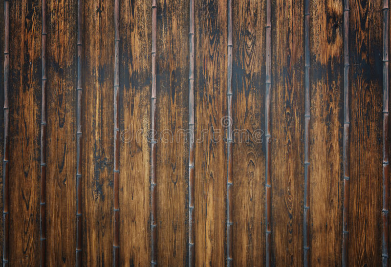 Wooden and bamboo board royalty free stock photos