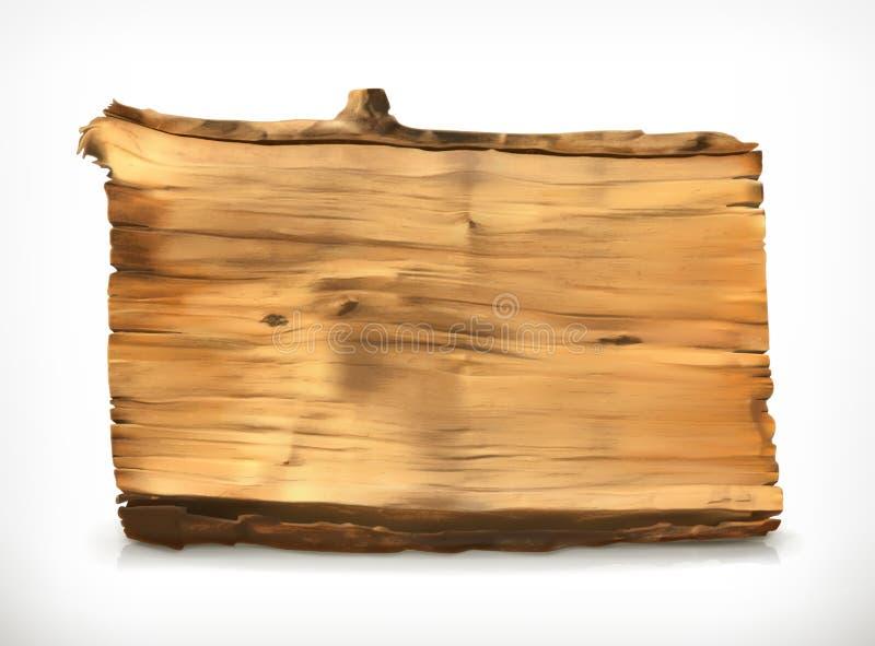 Wooden banner vector illustration stock illustration