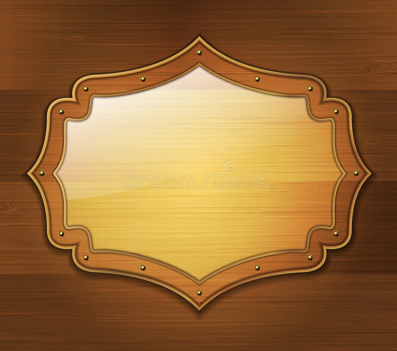 Download Wooden banner stock vector. Image of border, reflect - 34315176
