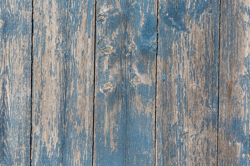 Wooden Barn Board. Old wooden barn board with distressed blue paint stock photos