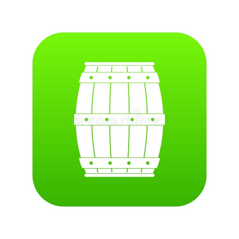 Wooden barrel icon digital green. For any design isolated on white vector illustration royalty free illustration