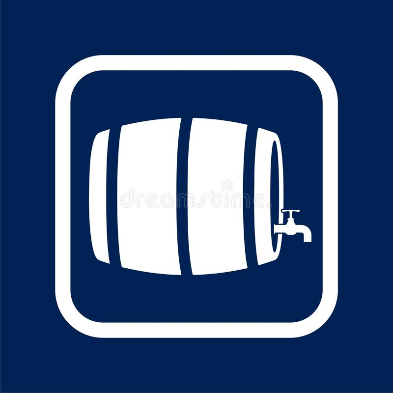 Wooden Barrel icon Vector - Illustration. Vector icon vector illustration
