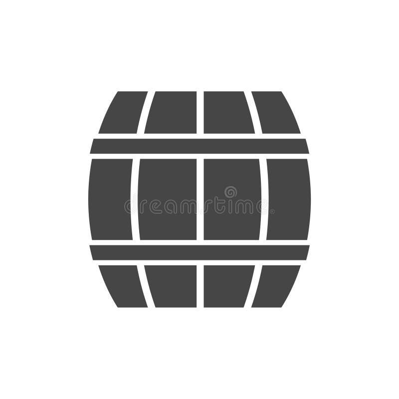Wooden Barrel icon Vector - Illustration. Vector icon royalty free illustration