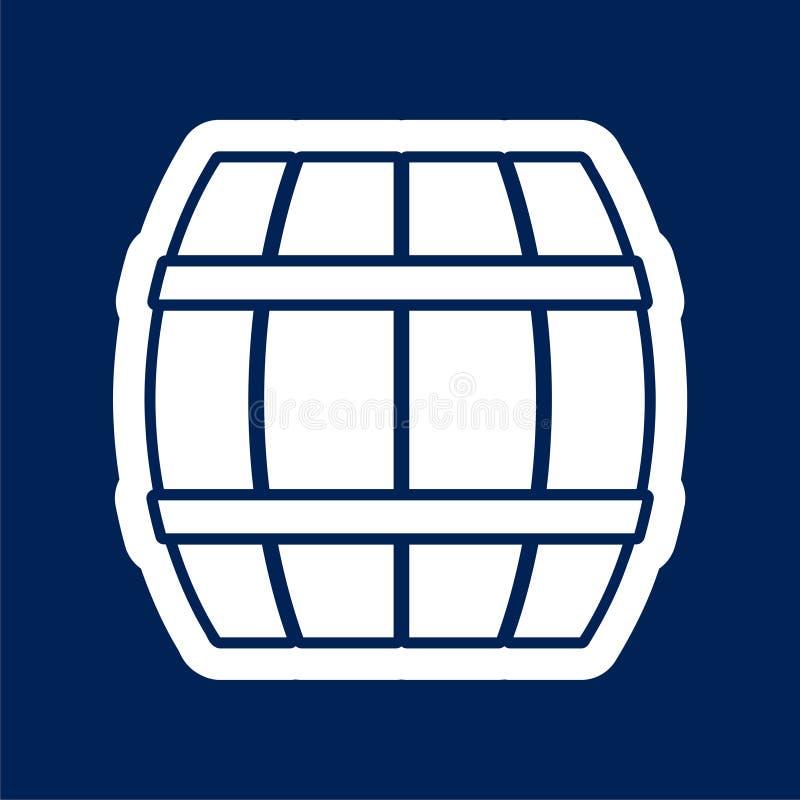 Wooden Barrel icon Vector - Illustration. Vector icon set royalty free illustration