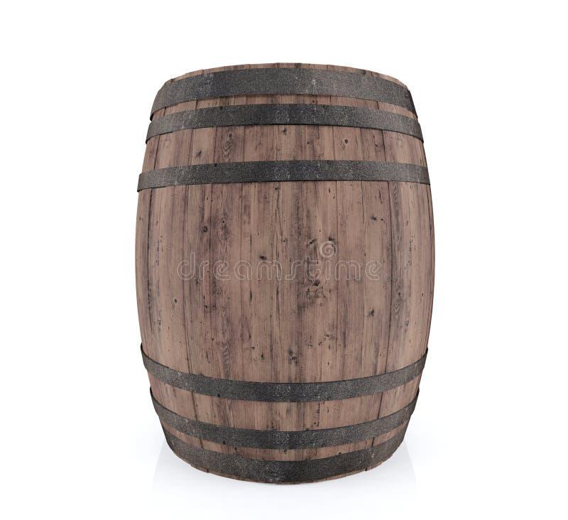 Wooden barrel isolated on white background royalty free illustration
