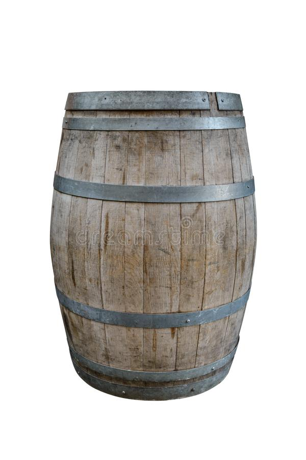 Wooden barrel isolated on white background. Image of wooden barrel isolated on white background stock images