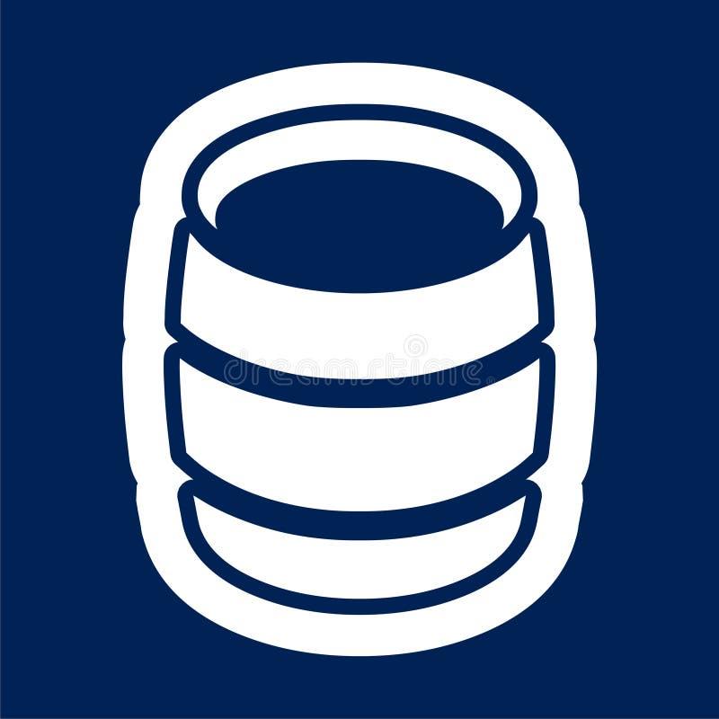 Wooden Barrel Vector - Illustration. Vector icon royalty free illustration