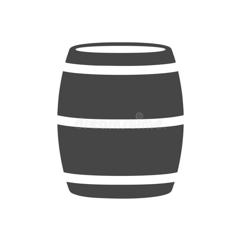 Wooden Barrel Vector - Illustration. Vector icon vector illustration