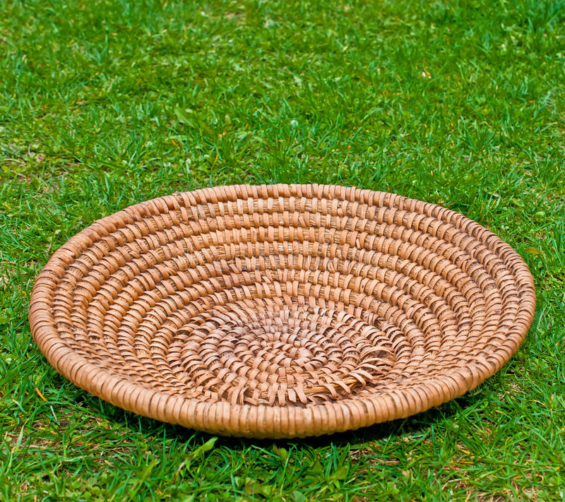 Download Wooden Basket On Grass Stock Photo - Image: 24558750