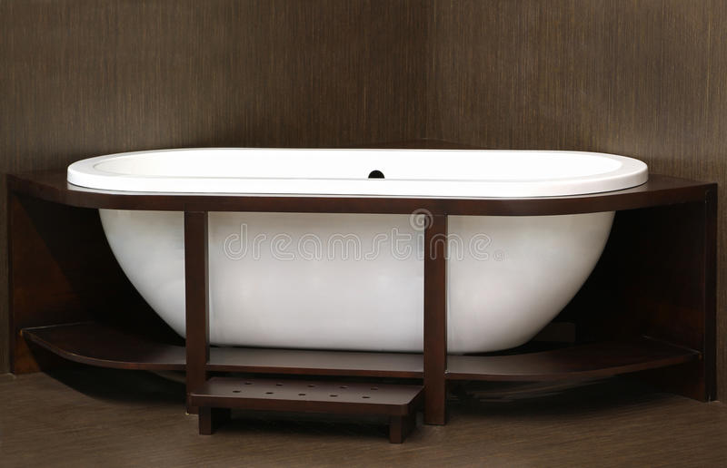 Wooden bath royalty free stock image