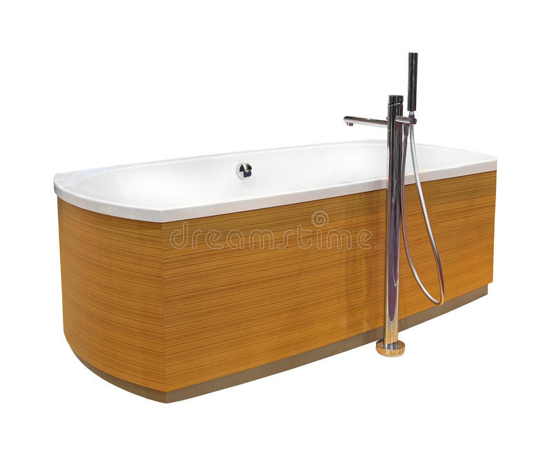 Wooden bath isolated royalty free stock photos