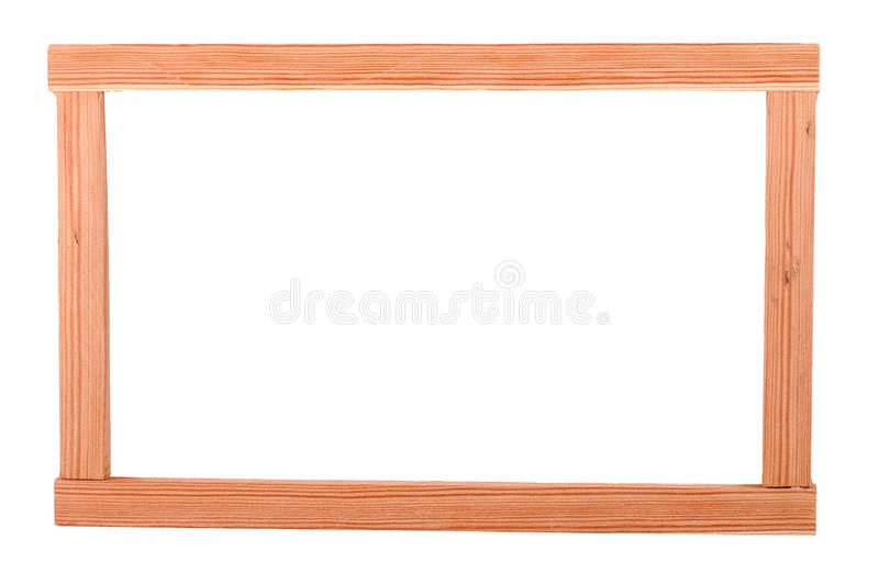 The Wooden Batten Square Scantling on the white background. This is a building materials. And this object for repair some frame. Some people make a birdcage from royalty free stock photography