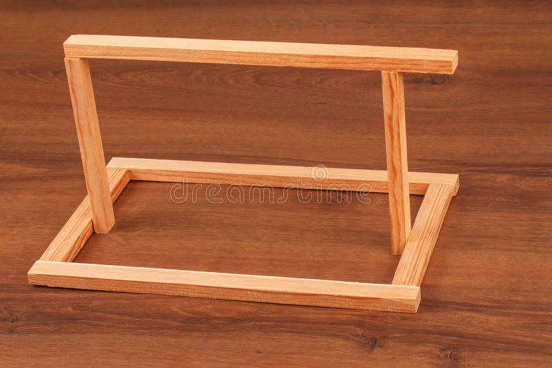 The Wooden Batten Square Scantling on the wood. This is a building materials. And this object for repair some frame. Some people make a birdcage from this object royalty free stock photos