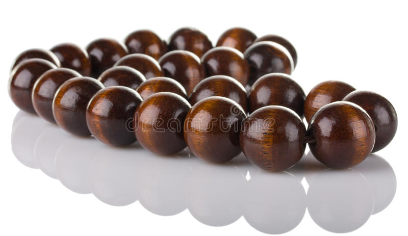 Download Wooden beads stock photo. Image of reflect, wooden, necklace - 22019772