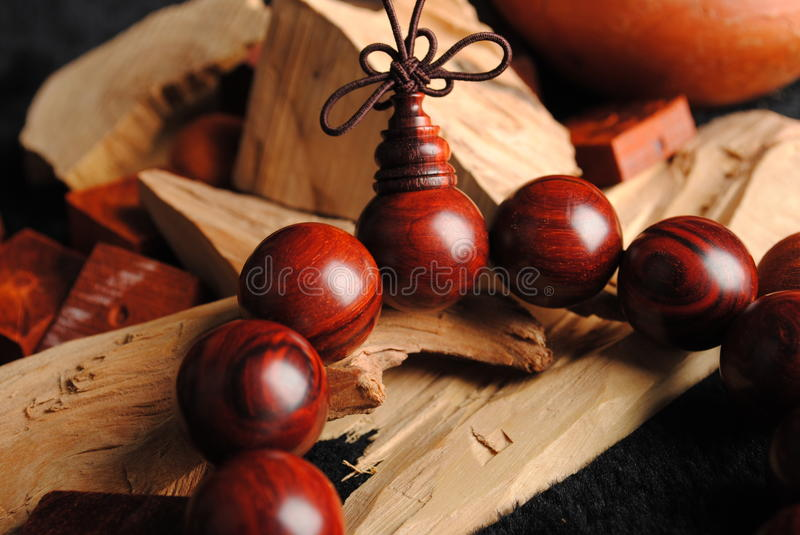 Wooden Beads royalty free stock photography