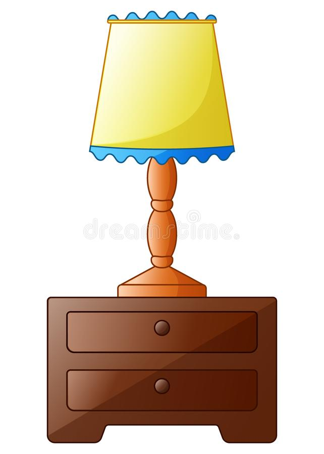 Wooden bedside table with lamp isolated stock vector illustration download wooden bedside table with lamp isolated stock vector illustration of indoor cabinet mozeypictures Image collections