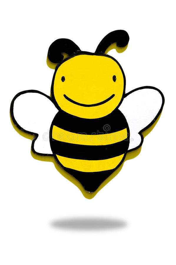 wooden bee,bee icon royalty free illustration