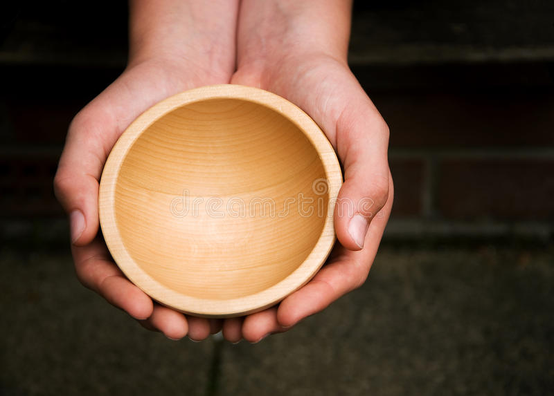 Download Wooden Begging Bowl stock image. Image of asking, dilema - 14675549