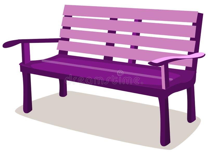 Wooden bench vector illustration