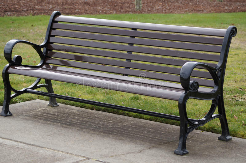 Download Wooden bench in park stock image. Image of park, arms - 29957517