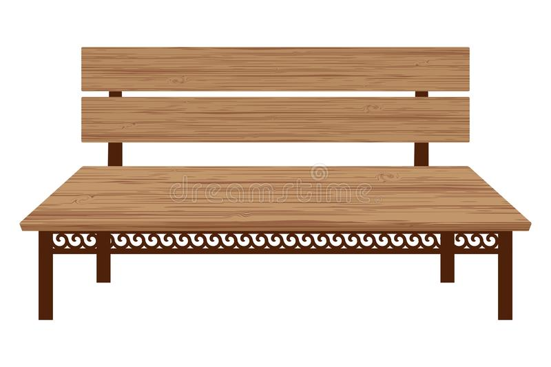 Wooden bench royalty free illustration