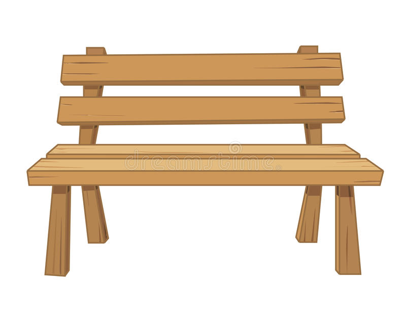 Wooden Bench Isolated Illustration Stock Vector Image