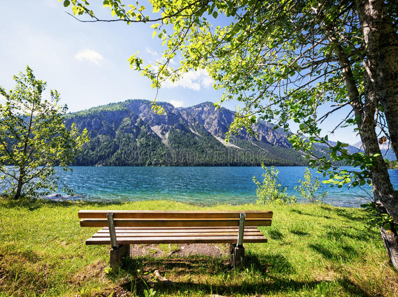 Download Wooden bench stock photo. Image of park, empty, parkbench - 32195920