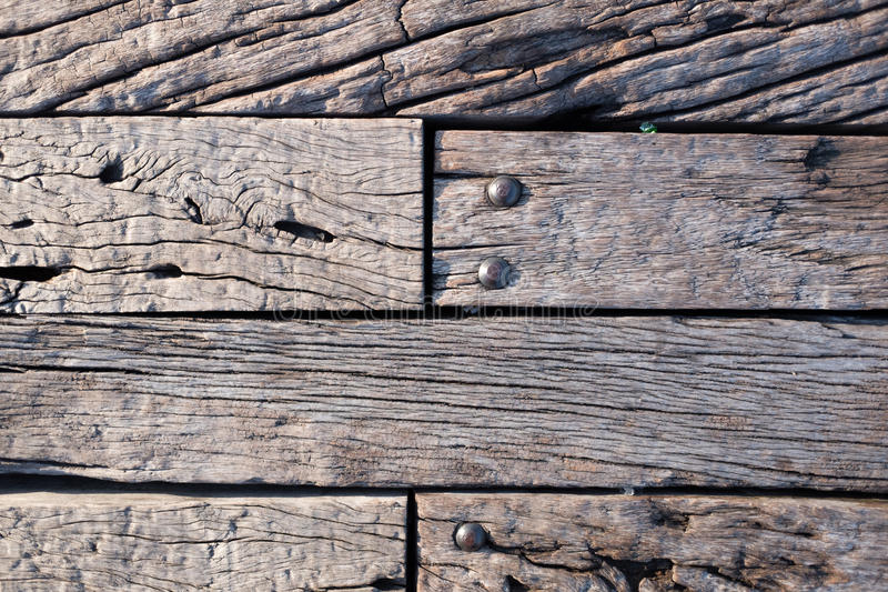Wooden bench. With nuts and bolts royalty free stock image