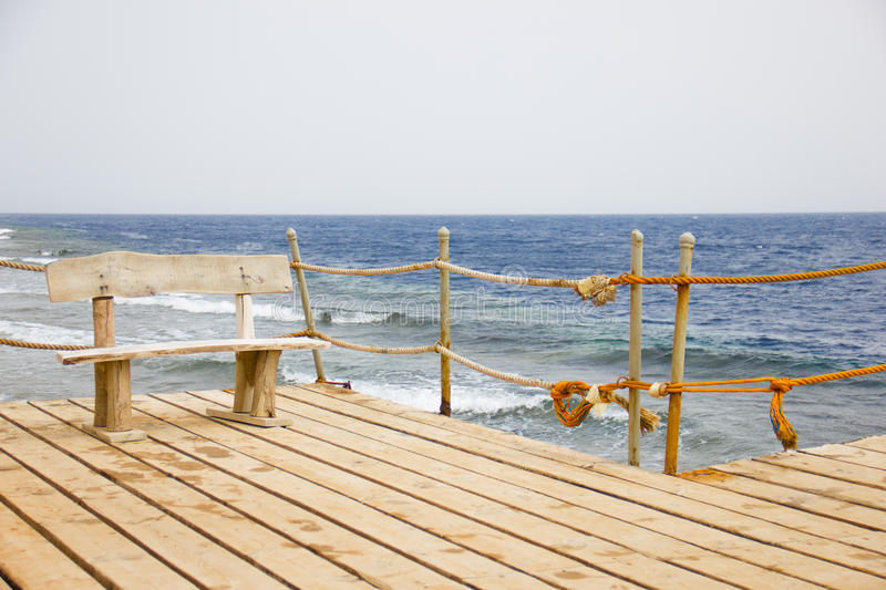 Download Wooden Bench On The Pier, Seascape Stock Photo - Image: 27069050