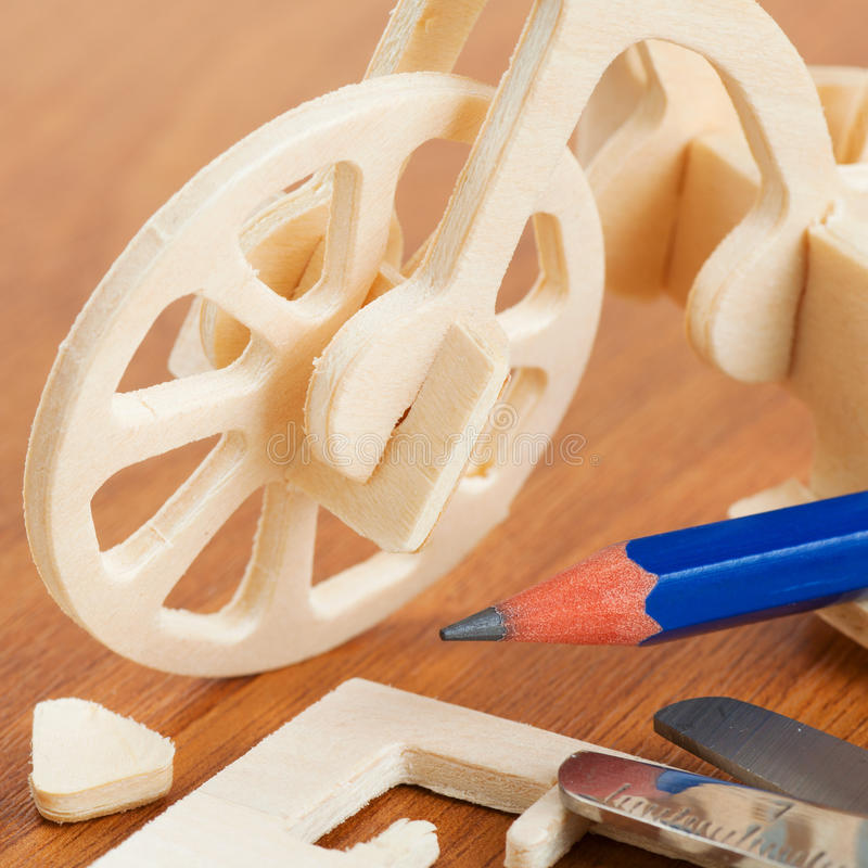 Download Wooden bicycle toy stock photo. Image of build, construction - 28959960