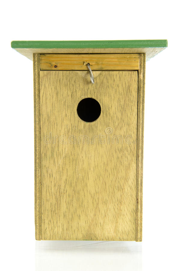 Download Wooden Bird House Front View Stock Photo - Image: 36113210
