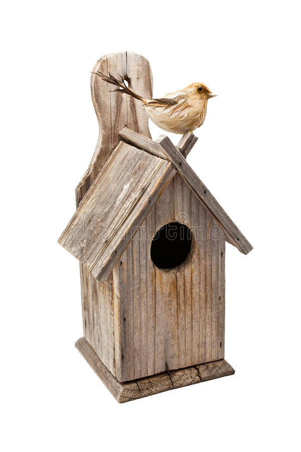 Free Wooden Bird House Isolated Stock Photography - 26020382