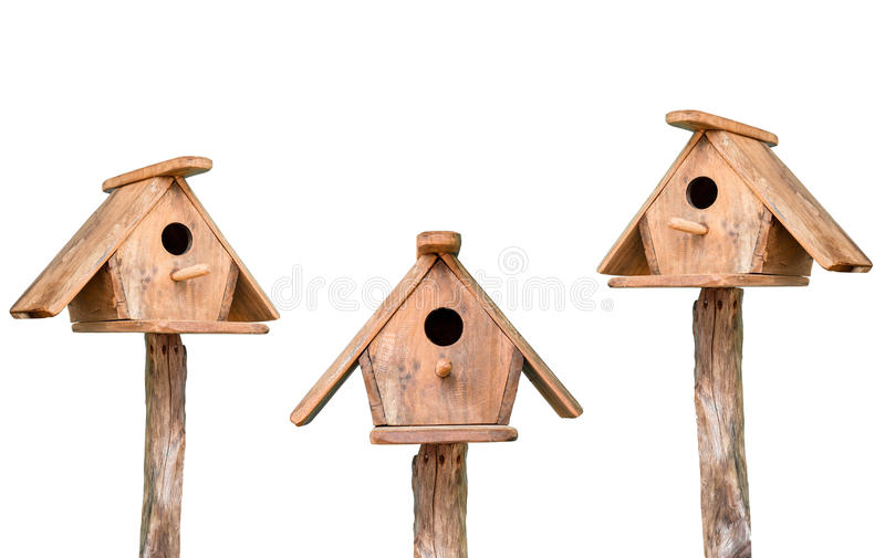 Wooden bird house royalty free stock photography