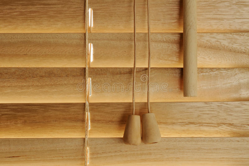 Wooden blind details. Close-up to wooden blind details , empty rows on left stock photography
