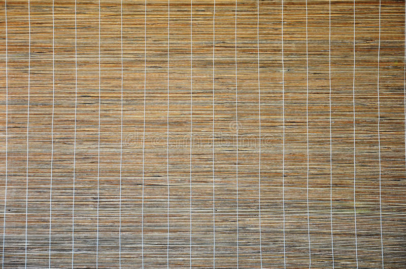 Wooden blinds. Architecture brown Bamboo blinds background royalty free stock photo