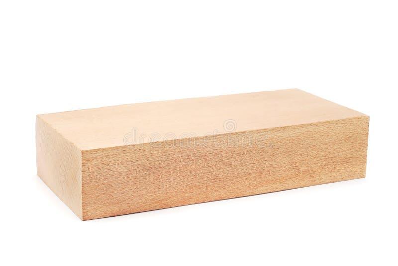 Wooden block. On white background stock photo