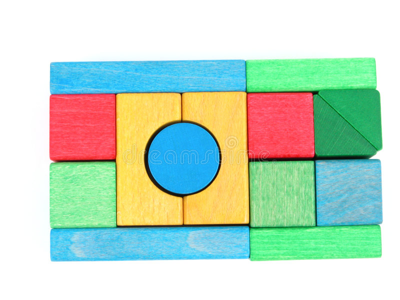 Wooden blocks stock image