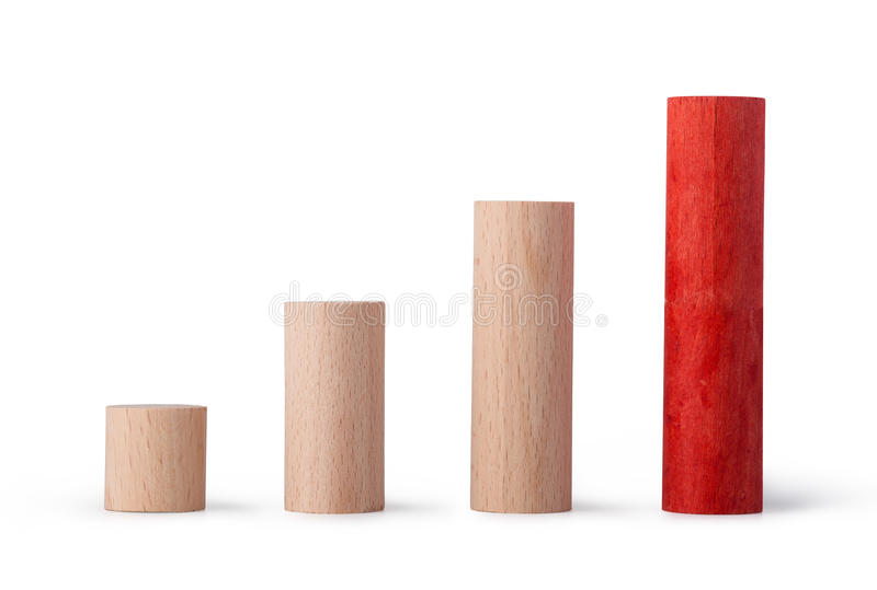 Color Diagram Chart Of Wooden Blocks Stock Image