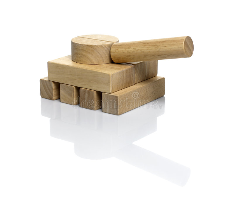 Download Wooden Blocks / Military Tank Stock Image - Image: 3622739
