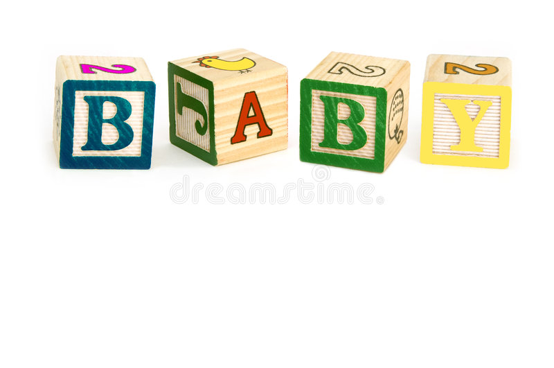 Download Wooden Blocks Spelling Baby Stock Image - Image of colours, details: 866761