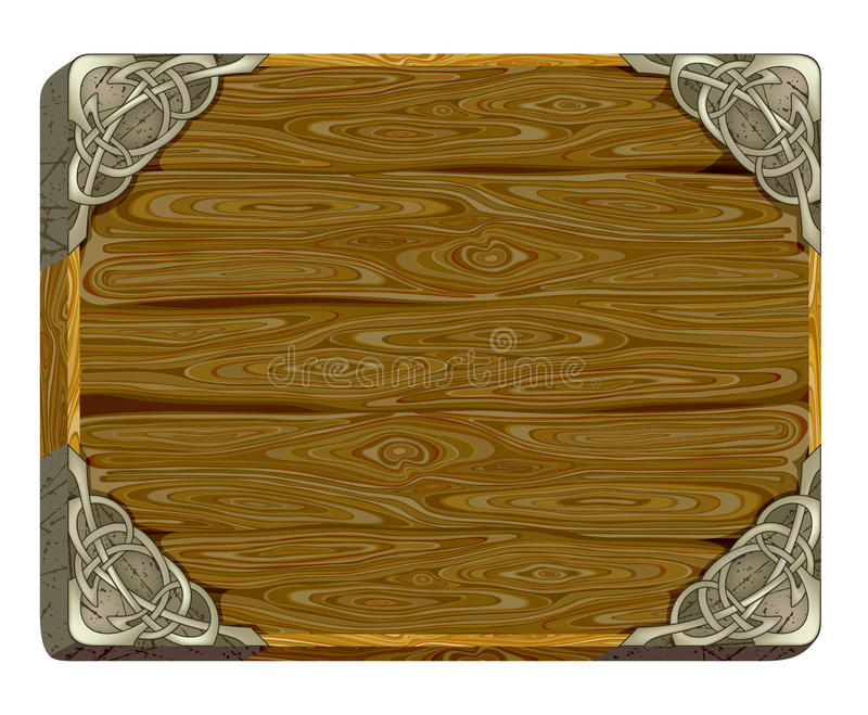 Download Wooden board stock vector. Image of retro, metallic, message - 9996974