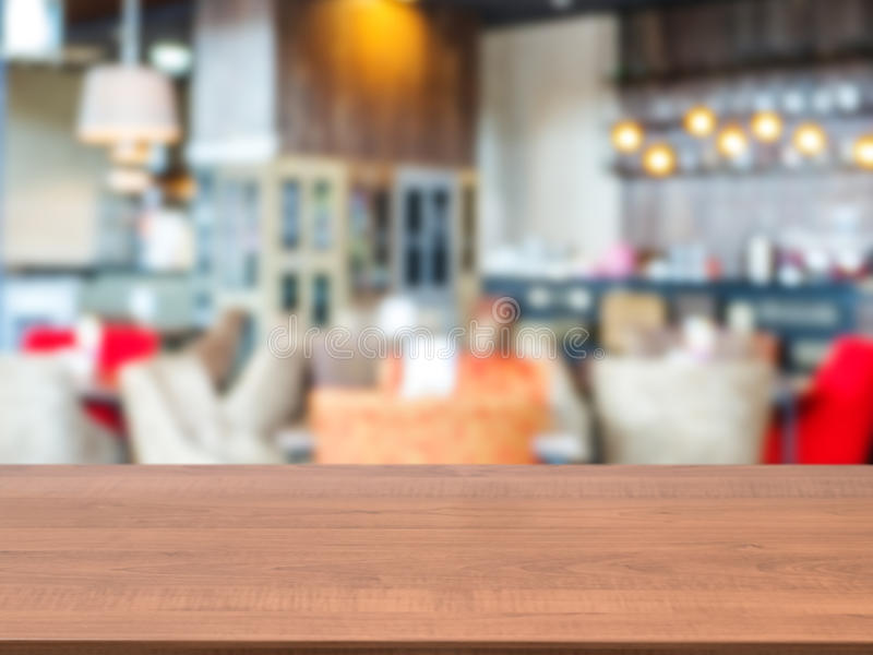 download wooden board empty table in front of blurred cafe stock image image of decoration