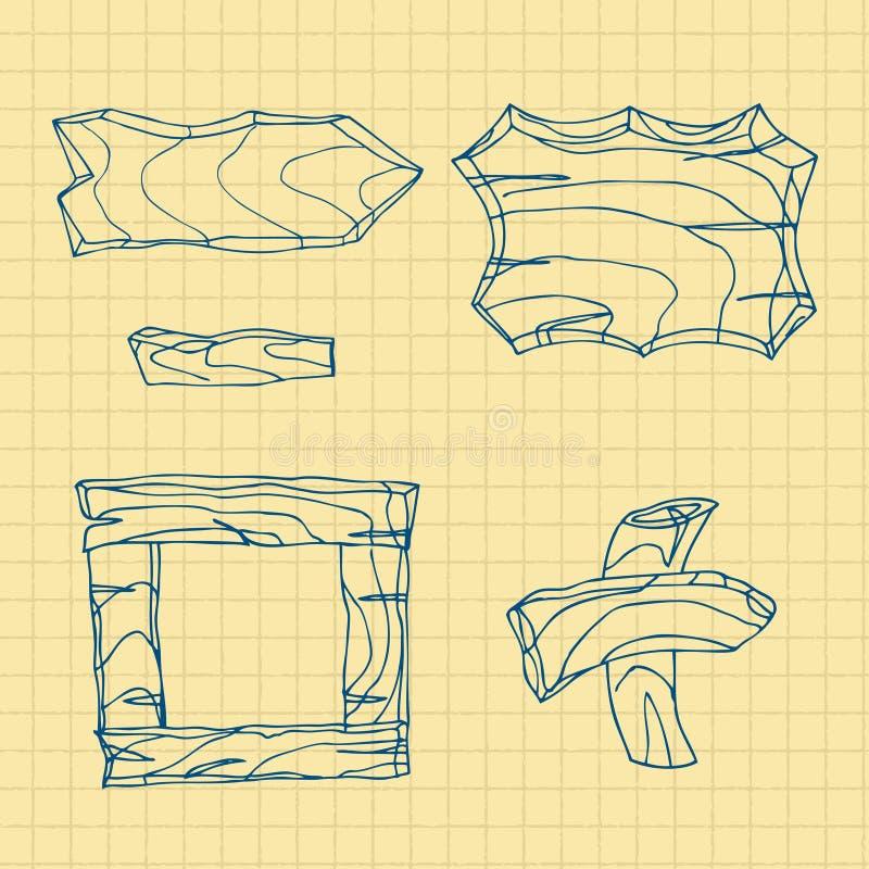Wooden Board royalty free illustration